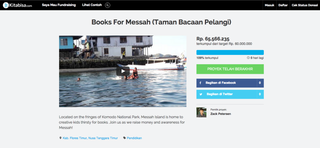 Zack Petersen - Books For Messah (Taman Bacaan Pelangi)